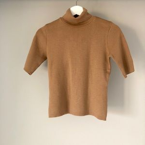 Made in Italy 100% wool short sleeve turtle neck